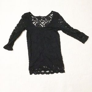 Rue 21 black lace 3/4 sleeve top